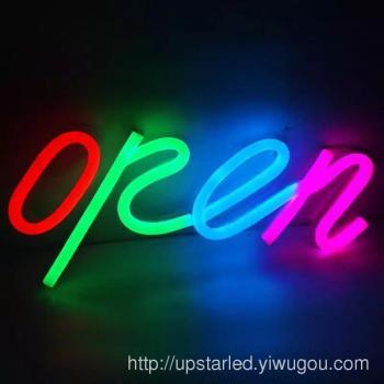 led open 霓虹灯广告牌 店铺营业招牌 柔性霓虹灯标识