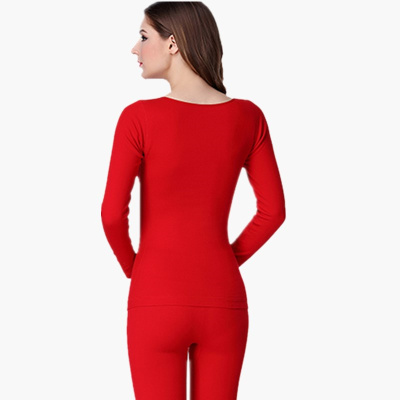 The big red female backing marriage year of fate with cashmere Thermal Underwear Long Johns suit