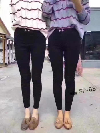 Black Magic pants and cashmere warm SP-68 magic pants feet pants