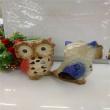 Ceramic owl Home Furnishing Candlestick decorations