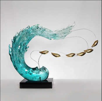Transparent glass imitation ornaments Home Furnishing space sculpture crafts abstract sculpture jewelry accessories