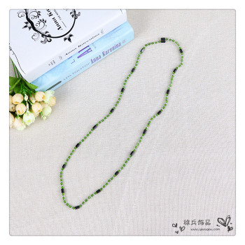 Strong magnetic hematite acrylic magic necklace bracelet winter sweater chain Korea fashion all-match