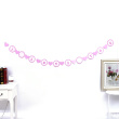 Valentine's Day party hanging heart lip color ribbon Decor wedding venue activities