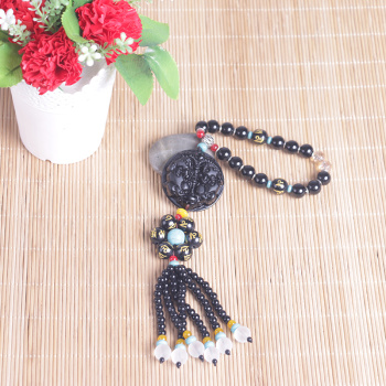 And Paul Fu Ping car accessories brave gourd Obsidian car in car of high-grade crystal jewelry ornaments