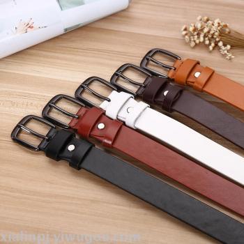 Ladies all-match jeans belt buckle belt decoration students leisure spot supply