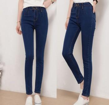 Autumn ladies denim pants nine Vintage Slim Slim Pencil jeans female feet