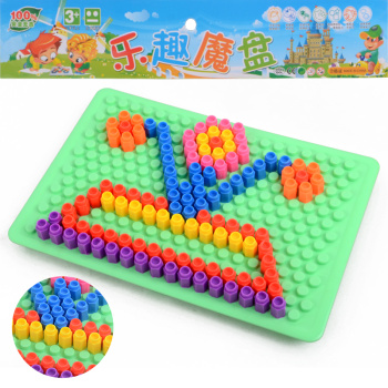 Happy magic box mix together mushroom nail puzzle board toys children's educational toys to spread the best selling