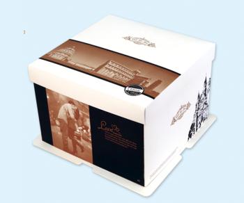 欧式情侣蛋糕盒8寸 蛋糕盒八寸批发 烘培包装高档款