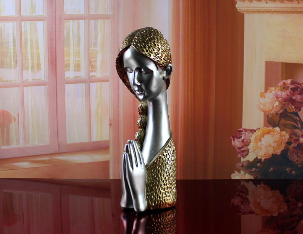 欧式现代家居装饰品摆件 树脂工艺品 创意信仰人物摆设