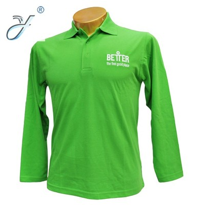Manufacturers wholesale custom events to promote leisure sports high-end designs of operas logoPolo long sleeves