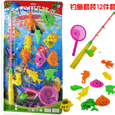Cheap wholesale children's educational toys children magnetic fishing Playsets Booth toy wholesale