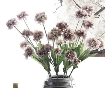 Spot supply European 5 head carnation flowers Home Furnishing decorative flower simulation Yiwu wholesale