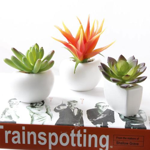 Artificial flowers succulents Fridge Magnet bonsai flowers wholesale small bonsai plants