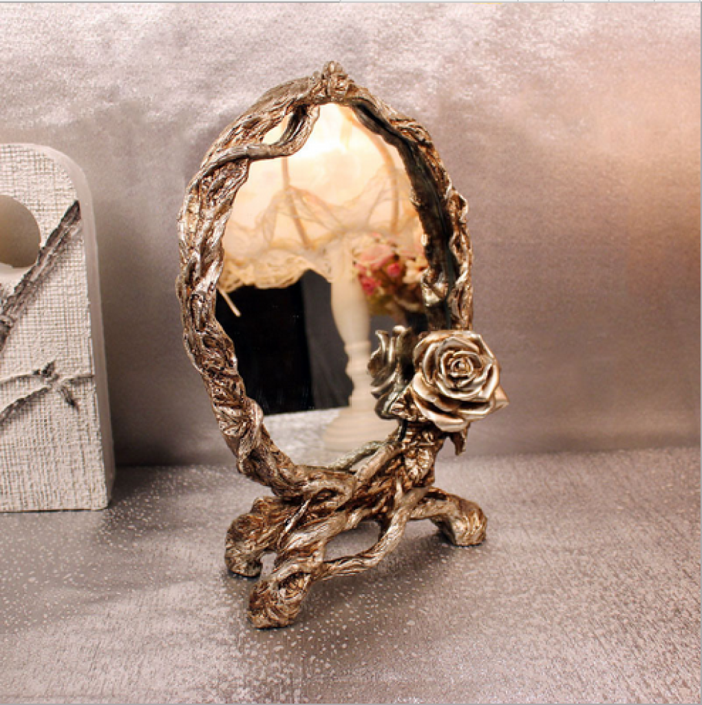 欧式风格复古化妆镜化妆台摆件装饰品实用创意礼品