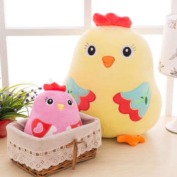 Factory wholesale chicken chicken mascot colorful Beanie Babies creative cartoon doll plush toys