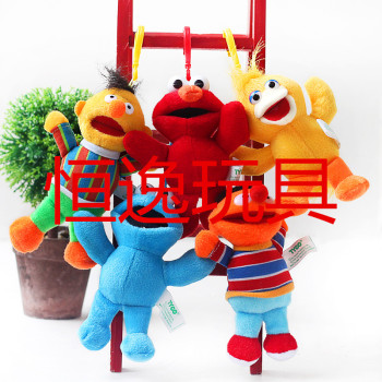 Manufacturers selling sesame doll plush toys red blue aymo Pendant
