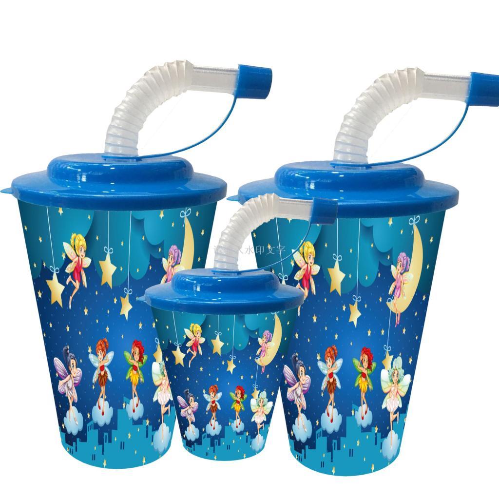 供应塑料吸水杯 3d动物杯 礼品杯吸管杯 卡通儿童水杯