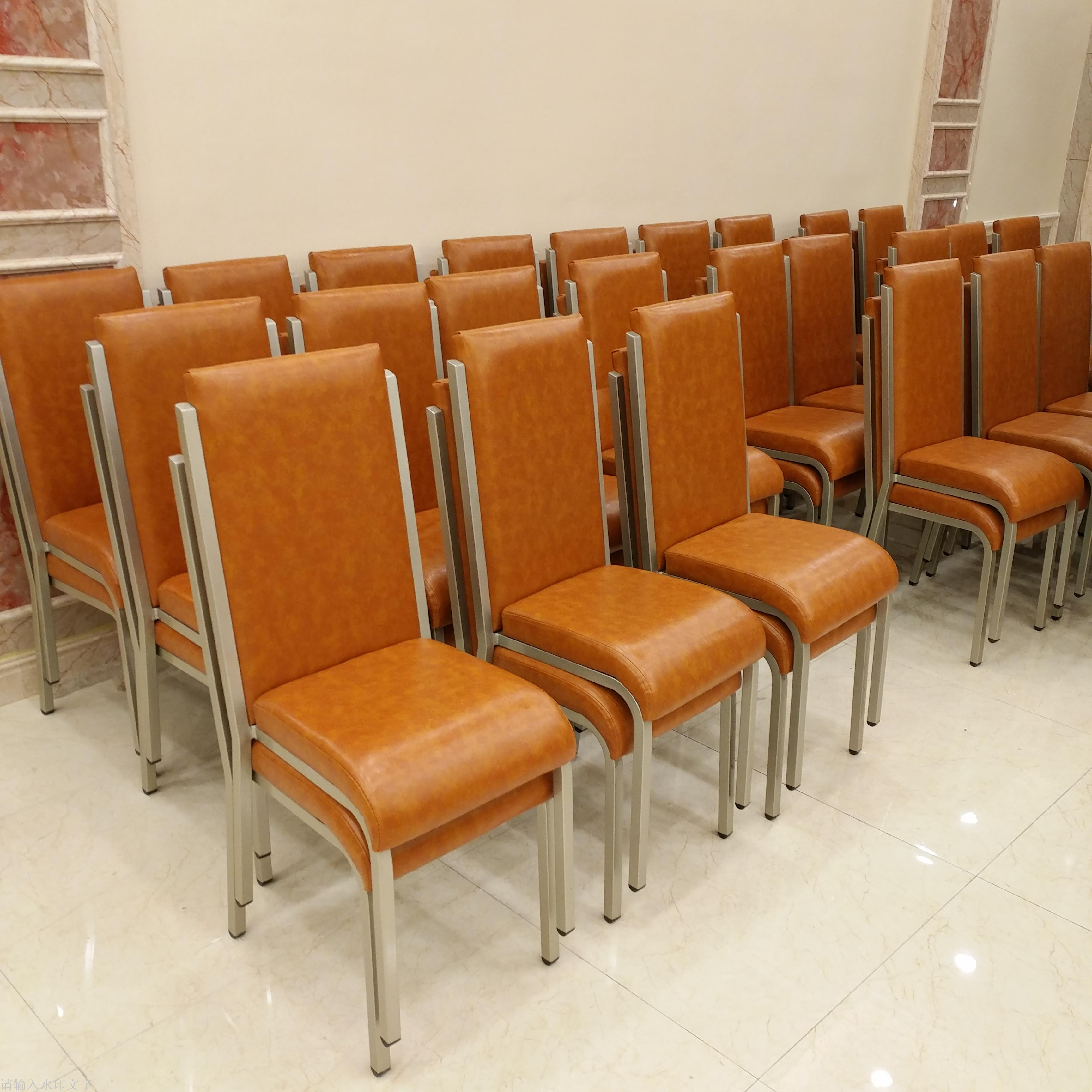 Supply Shaoxing hotel dining table chair steel chair hotel
