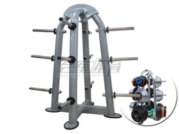 In the barbell barbell rack hole special professional training in the gym