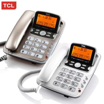 家用办公固定电话 免电池 大屏双接口 复古