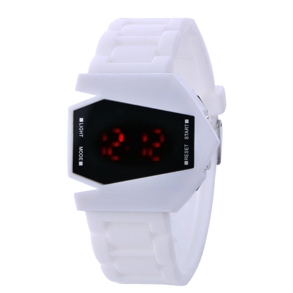 时尚韩版手表创意飞机学生儿童手表硅胶腕带电子数字表