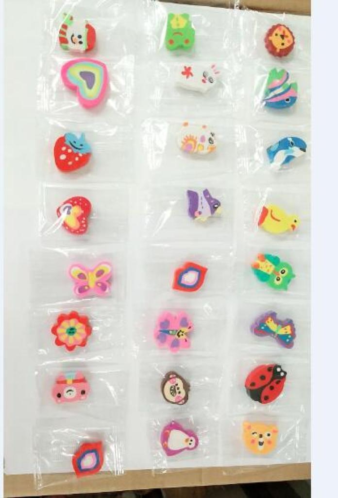 糖果包装橡皮擦单个opp袋 多色橡皮打洞