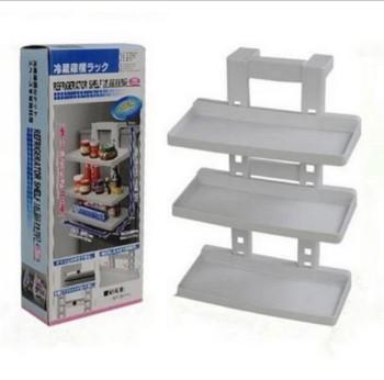 Refrigerator three layer shelf installation of the refrigerator side wall frame kitchen shelf TV TV shopping