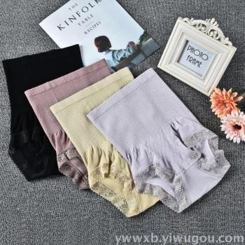 High waist waist underwear lace fine cotton briefs ladies underwear
