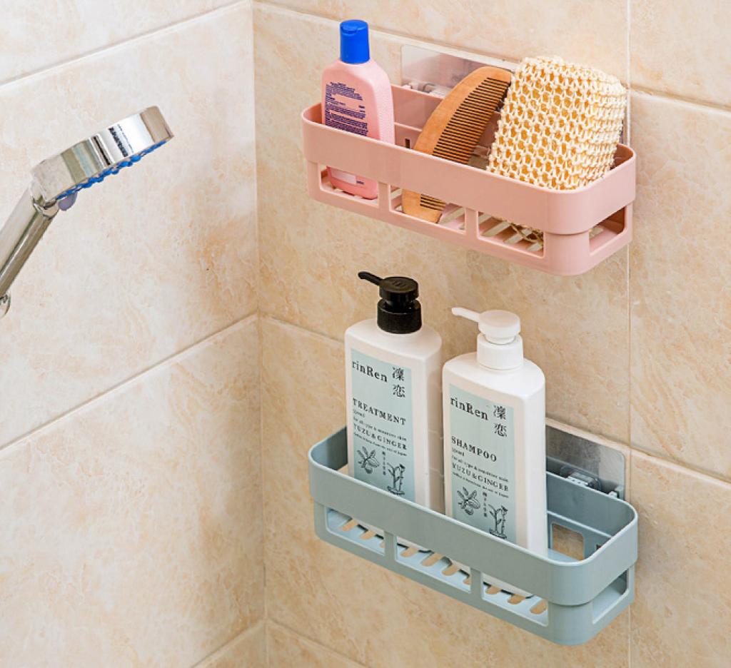 卫生间置物架 洗漱用品储物架 浴室架子 塑料收纳架图片