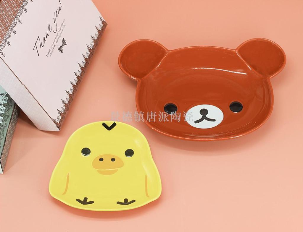 儿童卡通餐具 可爱陶瓷餐具 陶瓷碗 景德镇陶瓷