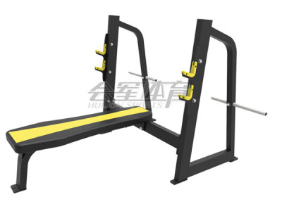 In the high-end professional gym training equipment in the supine push frame