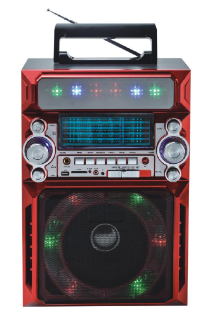 fm/am/sw1-2多波段收音机带led灯插卡大音箱