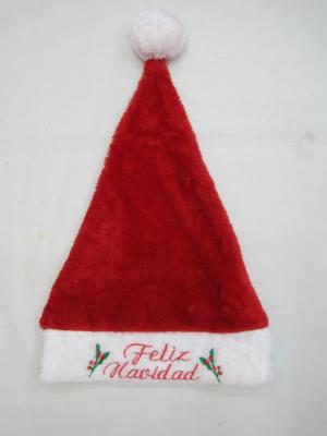 English alphabet Christmas hat embroidered Christmas Hat Christmas hat