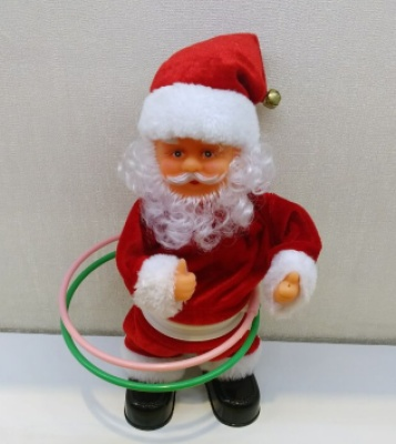 912312 inch Santa hula hoop music Christmas decorations