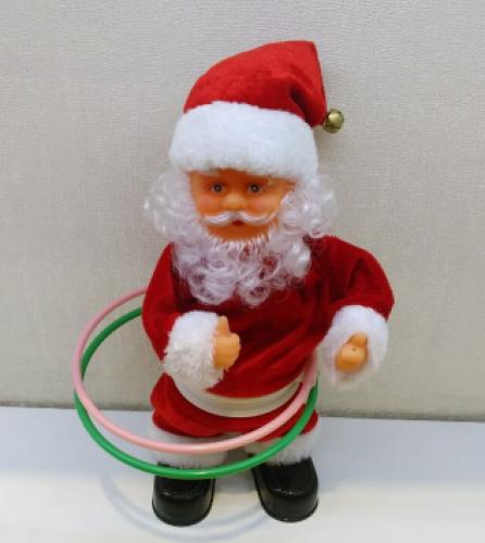 912312 inch Santa hula hoop music Christmas decorations