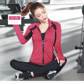 Korean spring Yoga suits sportswear fitness wear three piece yoga clothes