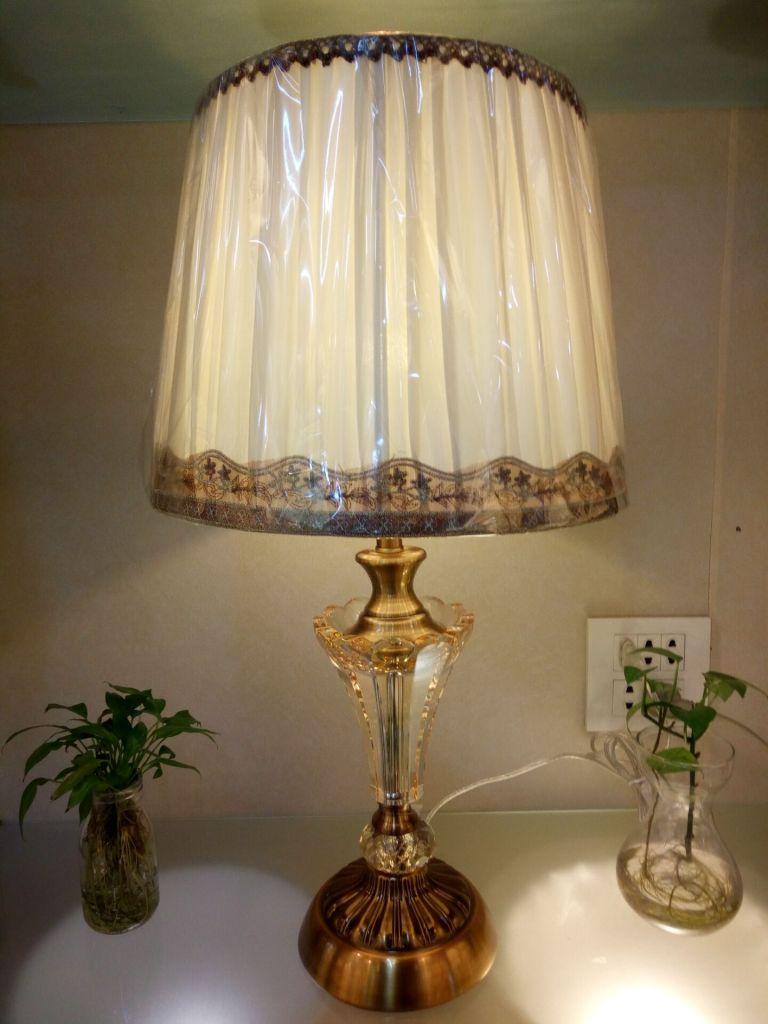 欧式法式美式全仿铜水晶奢华台灯复古卧室床头柜客厅书房创意