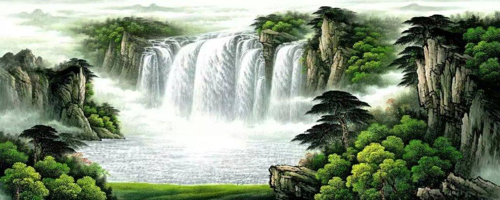 壁纸 风景 旅游 瀑布 山水 桌面 1024_410