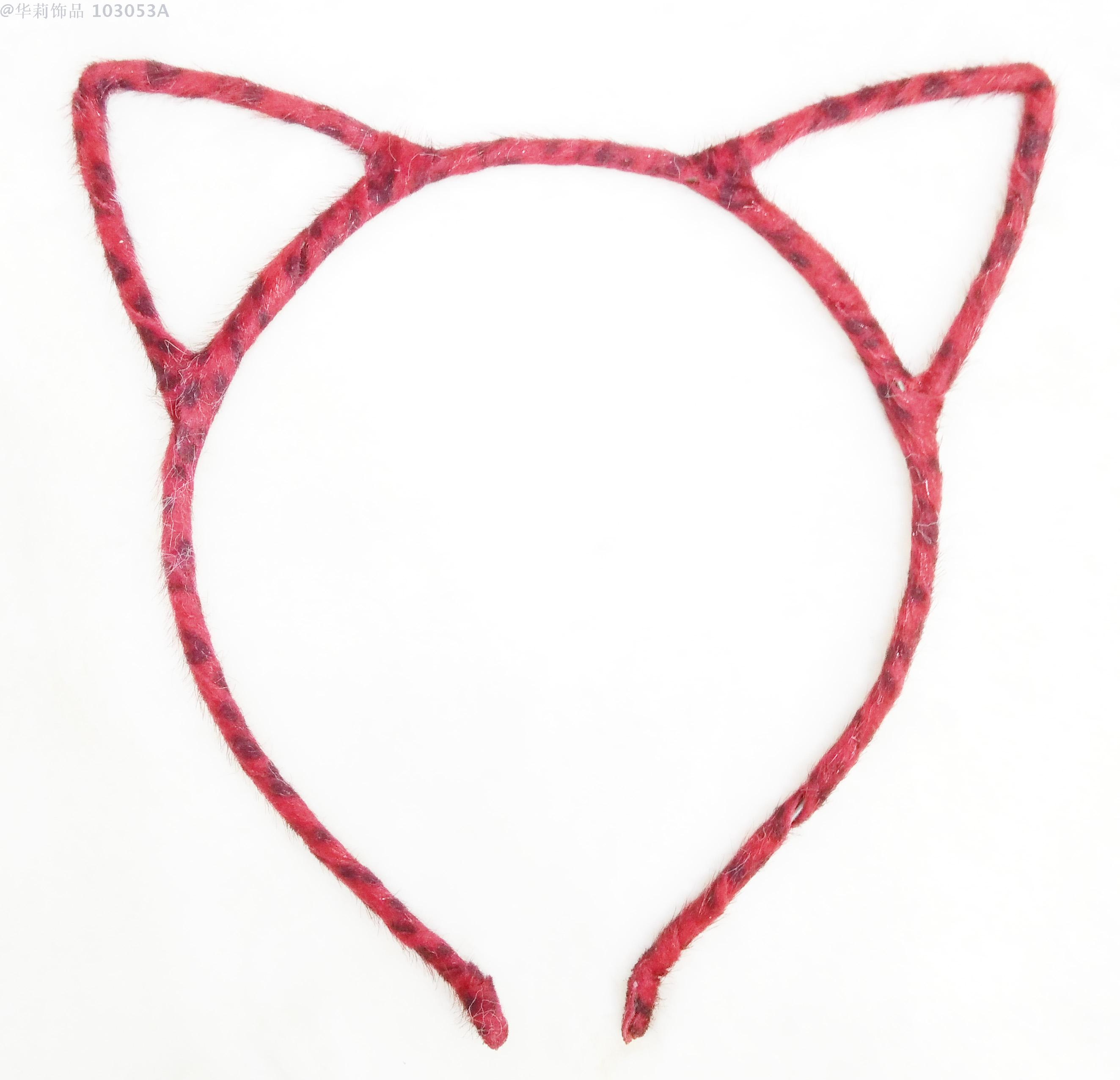 可爱猫耳朵发箍卡子细发卡头饰兔耳朵头箍发饰 厂家