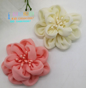 Direct manufacturers DIY handmade CHIFFON FLOWER sandals hat Home Furnishing car accessories accessories wholesale