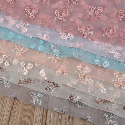 Factory direct kinds of color flower embroidery mesh fabrics clothing Jewelry Accessories