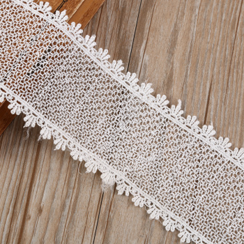 Factory direct white openwork weaving chemical lace costume jewelry accessories