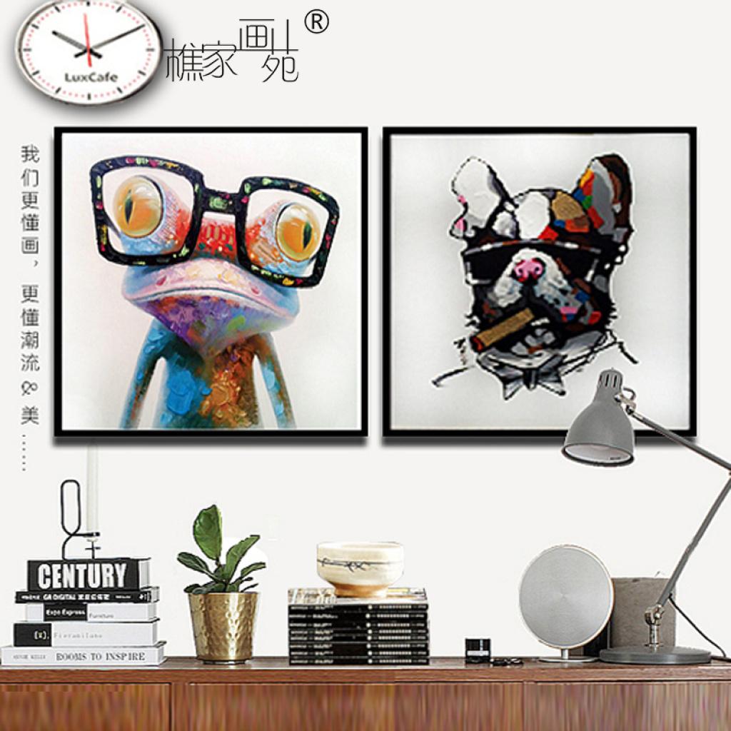 樵家画苑 现代简约装饰画艺术ag游戏直营网|平台手绘抽象画客厅沙发