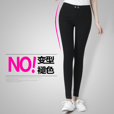 Black leggings women's elastic pants wearing thin slim Korean Joker skintight pencil pants feet pants new