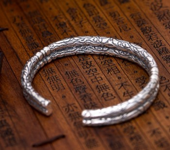 Thai silver bracelets wholesale old nine door with Buddha Zhao Liying explosion couple retro opening Bracelet