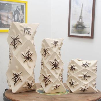 European simple modern ceramic vase living ceramic ornaments Home Furnishing process