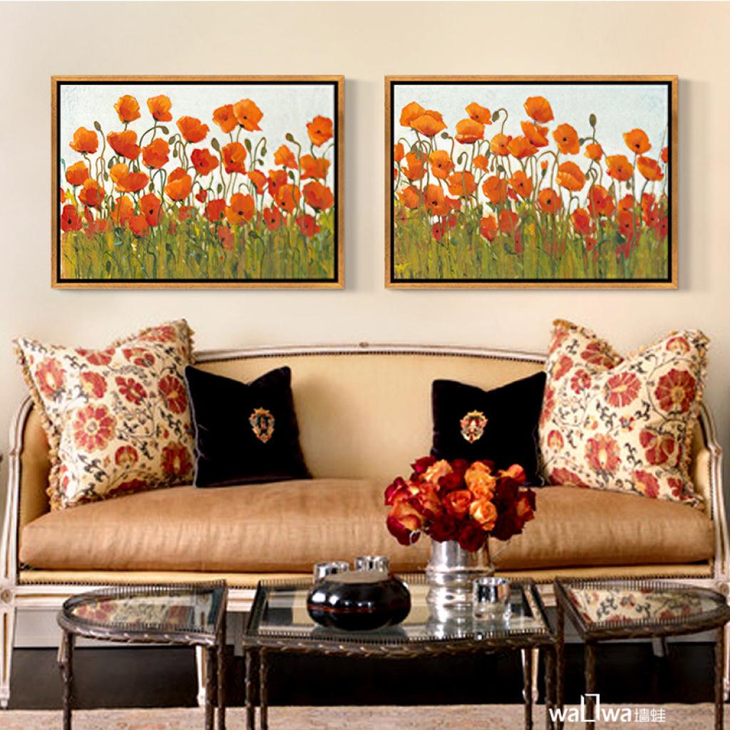 樵家画苑 欧式客厅装饰画电视沙发背景墙挂画书房卧室