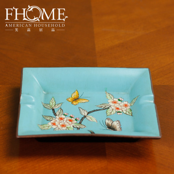 Home Furnishing crafts spring ashtray ceramic decoration by apricot