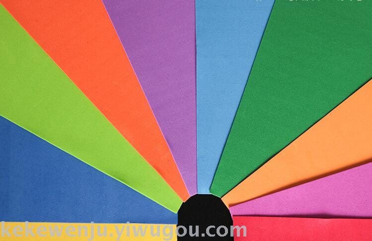 海绵纸eva彩色泡沫纸幼儿园手工材料彩纸折纸