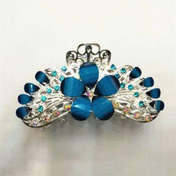 Korean large hairpin grip claw clip hair headdress diamond alloy catch